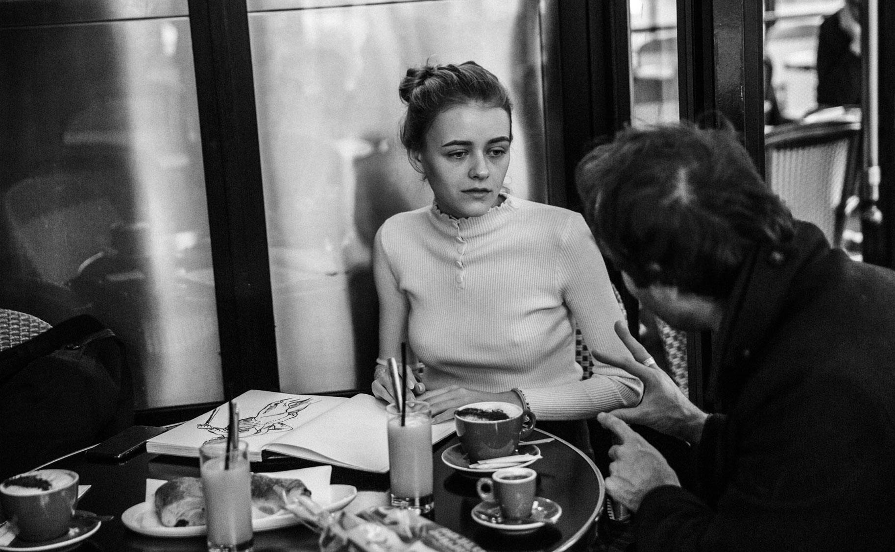 Яна Нагорняк в мастерской парижского художника / фото 01