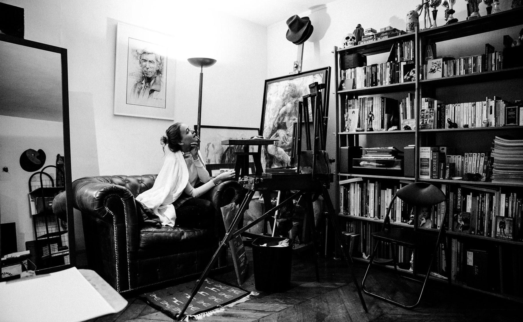 Яна Нагорняк в мастерской парижского художника / фото 08