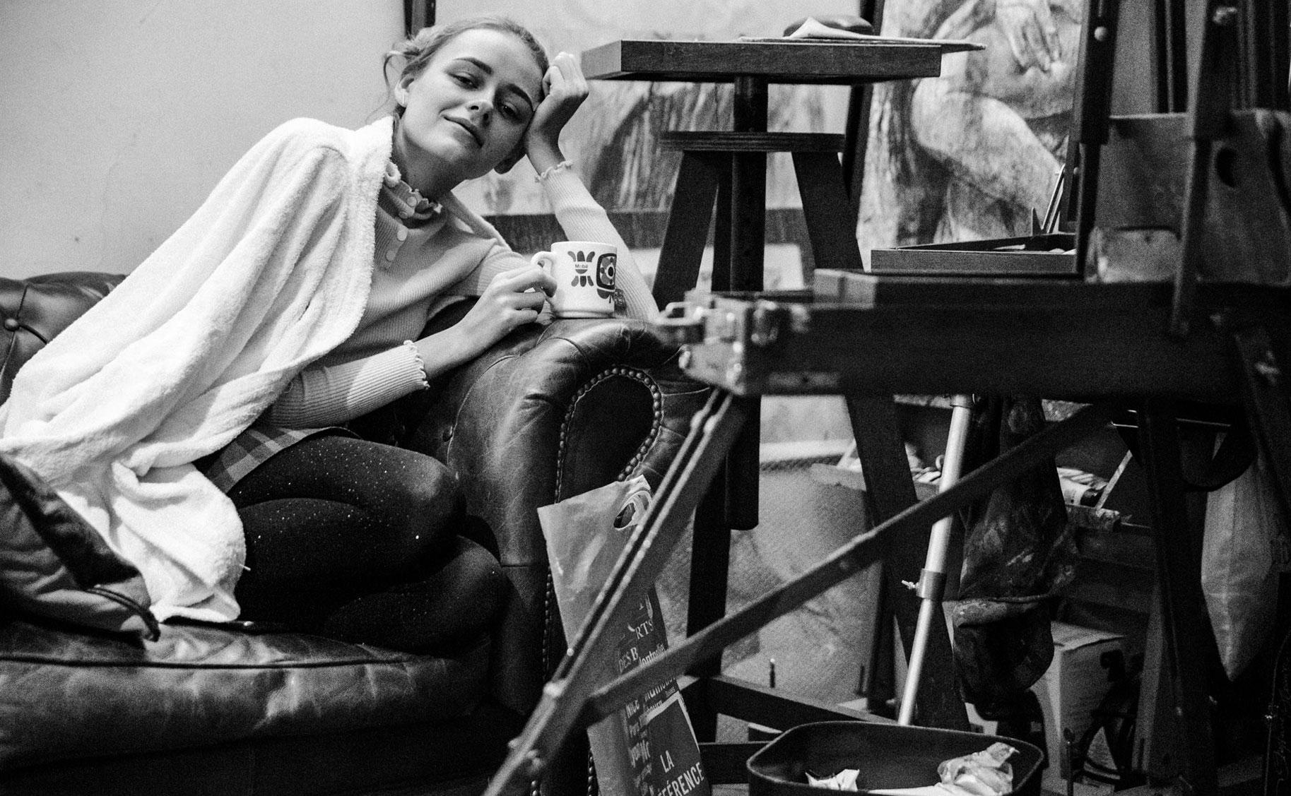 Яна Нагорняк в мастерской парижского художника / фото 09