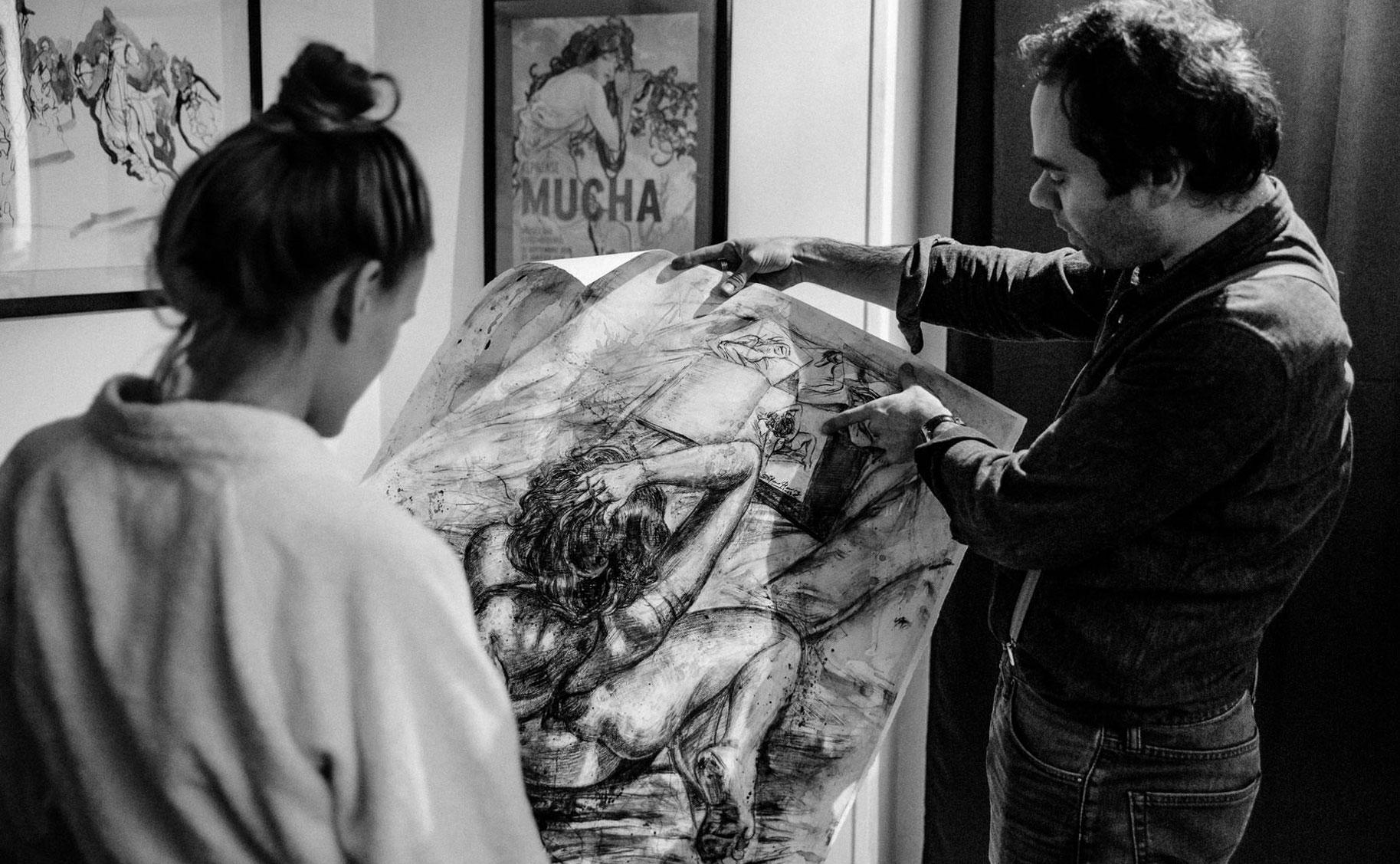 Яна Нагорняк в мастерской парижского художника / фото 10