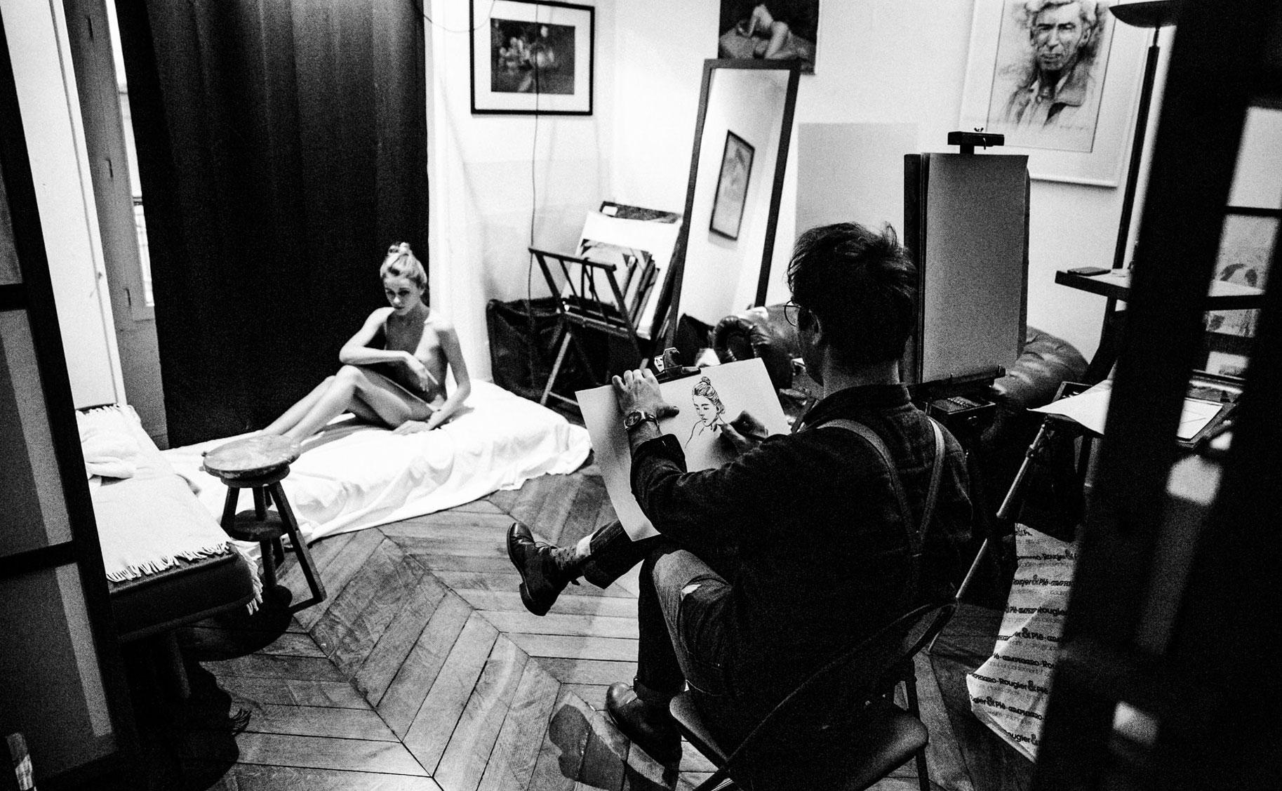 Яна Нагорняк в мастерской парижского художника / фото 13