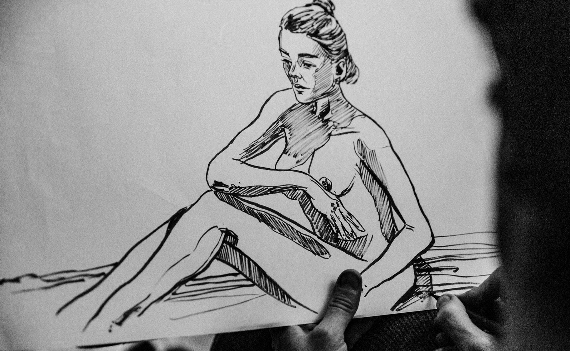 Яна Нагорняк в мастерской парижского художника / фото 14