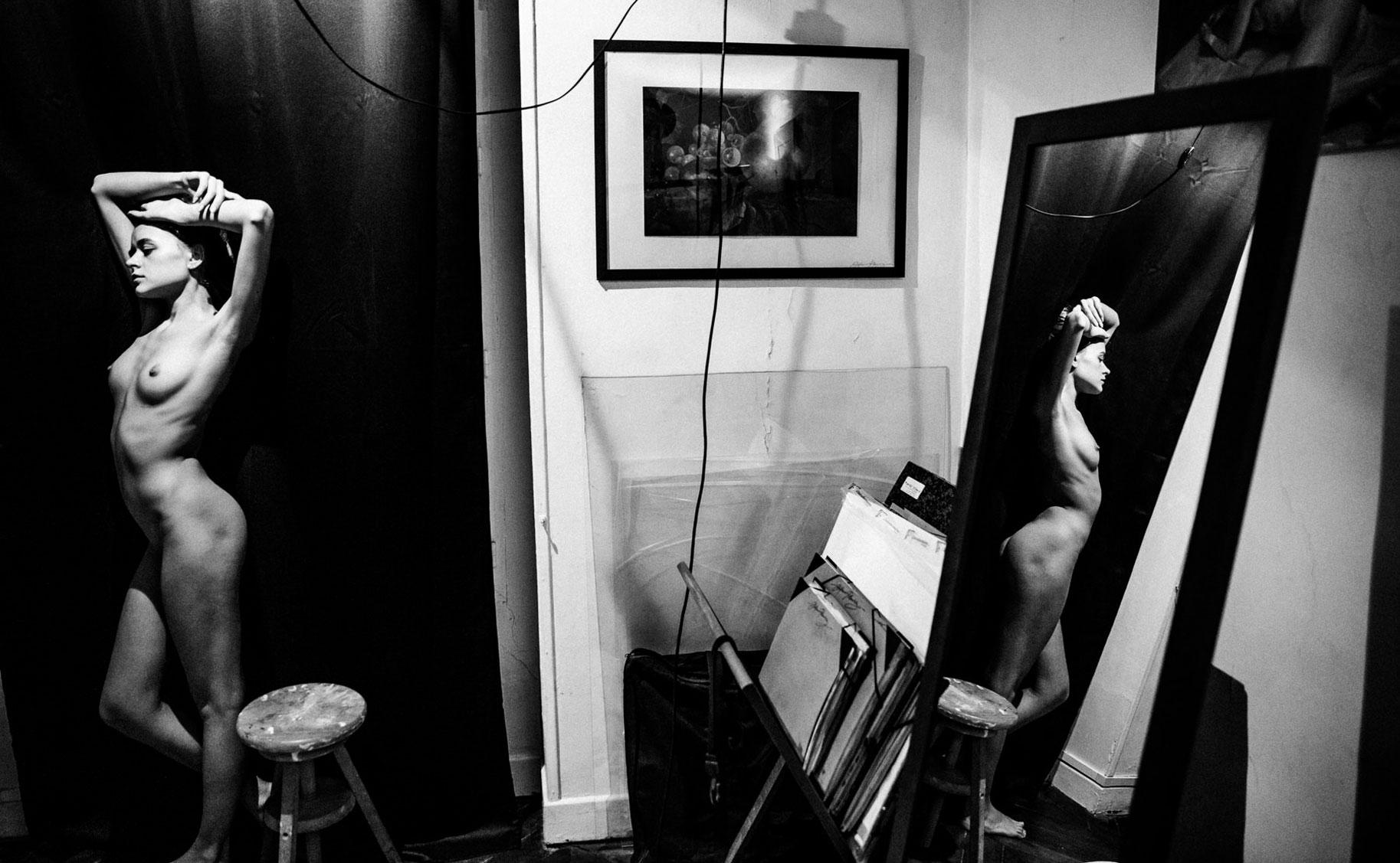 Яна Нагорняк в мастерской парижского художника / фото 15