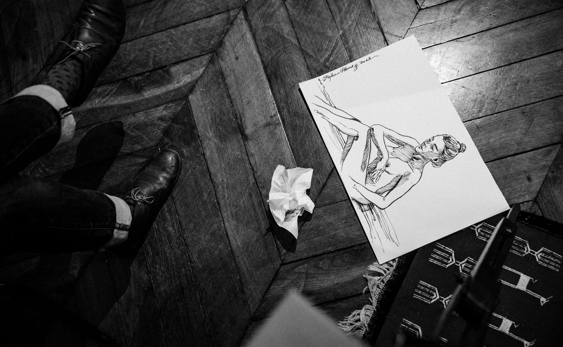 Яна Нагорняк в мастерской парижского художника / фото 16
