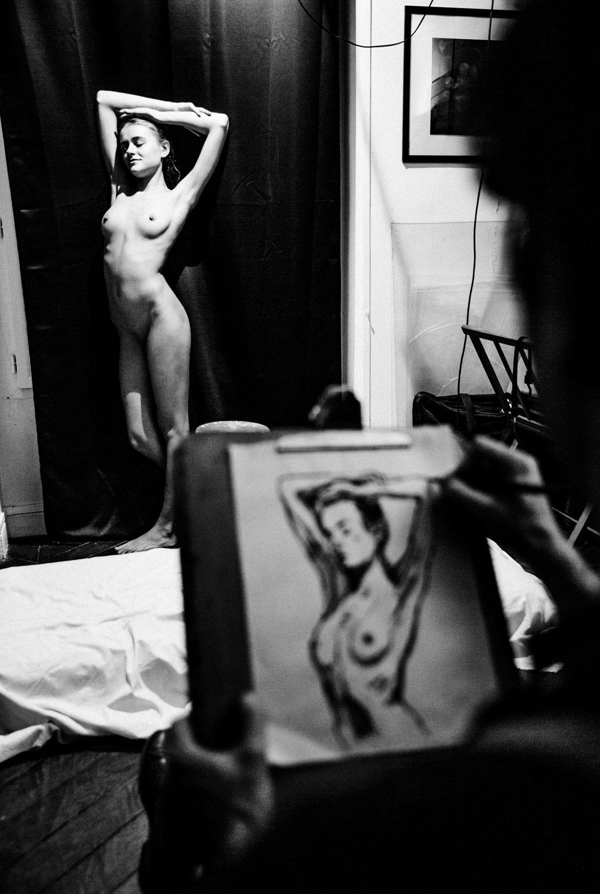 Яна Нагорняк в мастерской парижского художника / фото 17