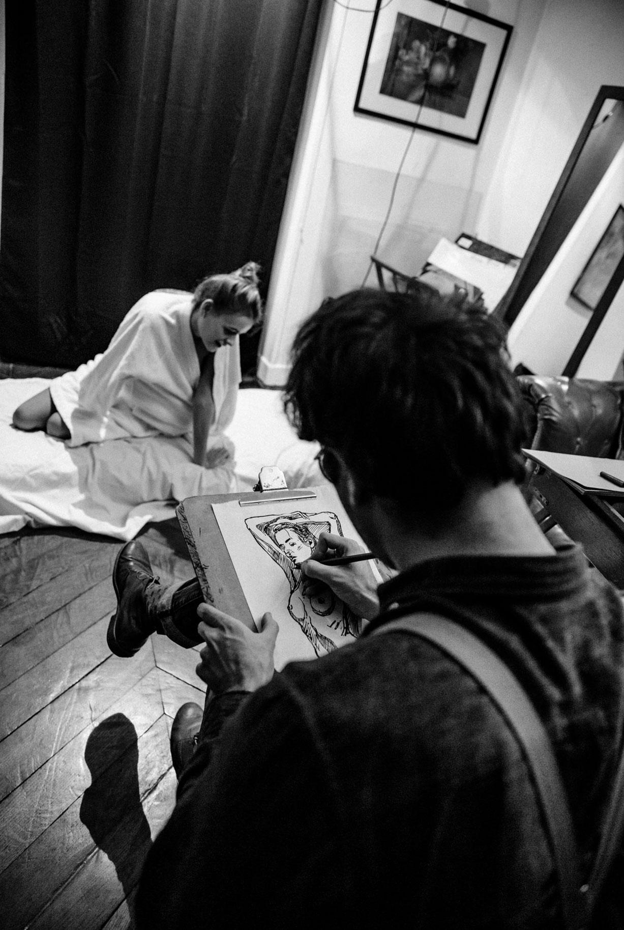 Яна Нагорняк в мастерской парижского художника / фото 18