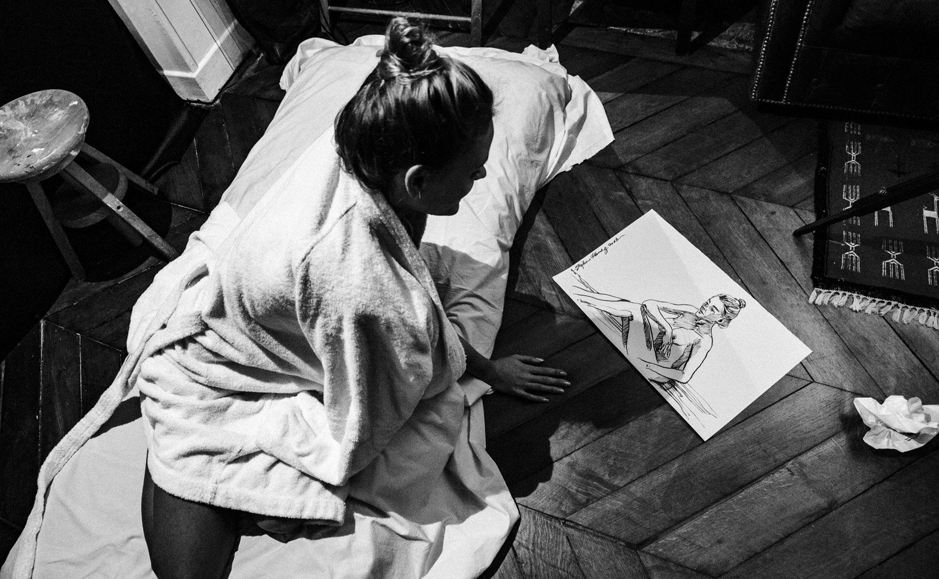 Яна Нагорняк в мастерской парижского художника / фото 19