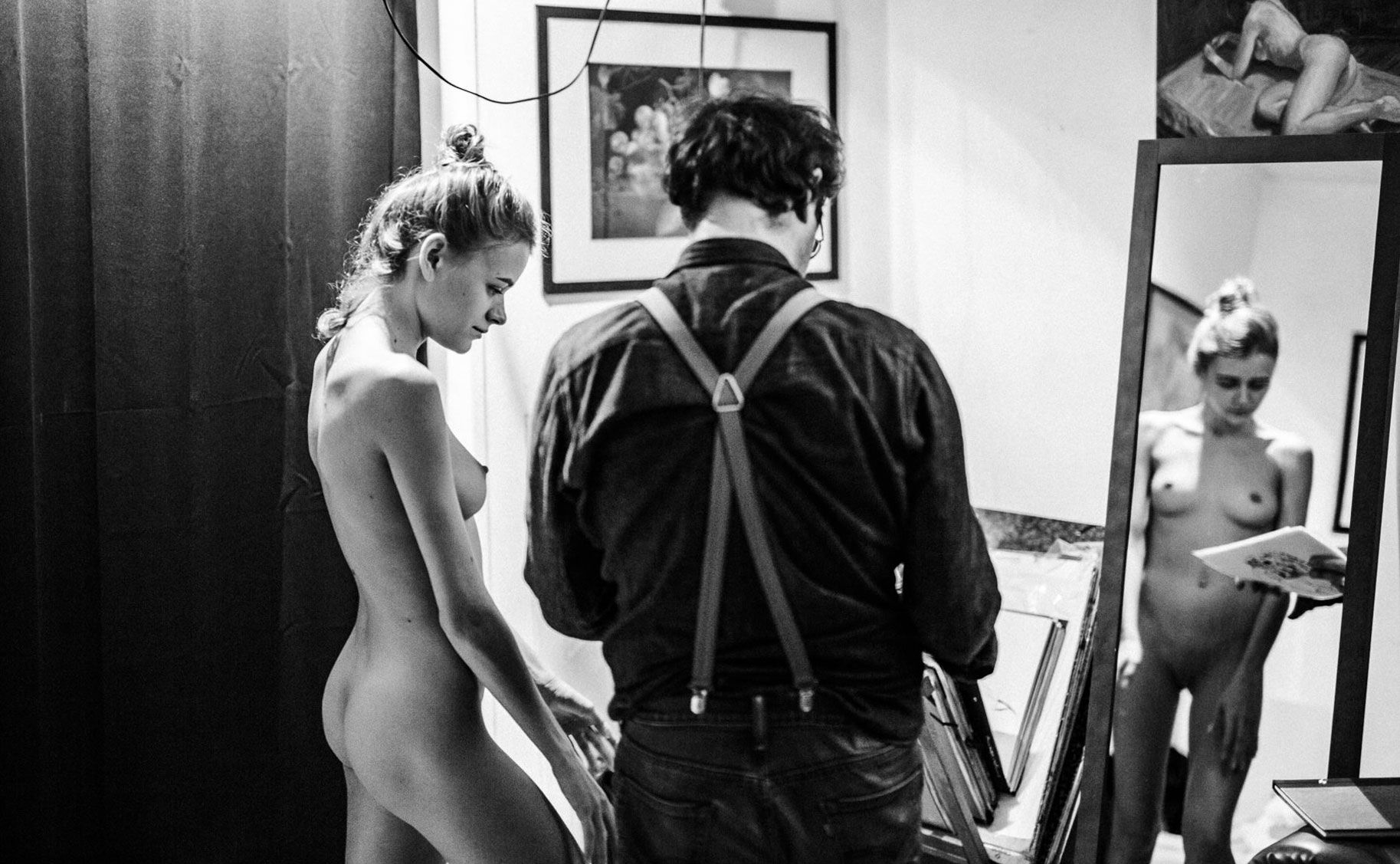 Яна Нагорняк в мастерской парижского художника / фото 25