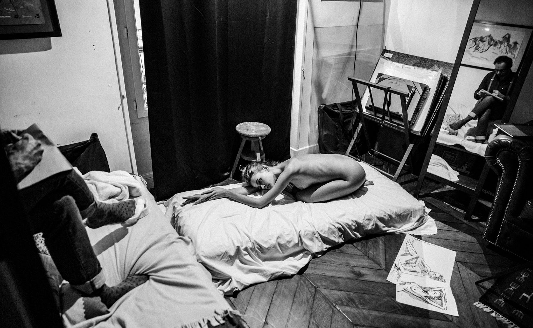 Яна Нагорняк в мастерской парижского художника / фото 26