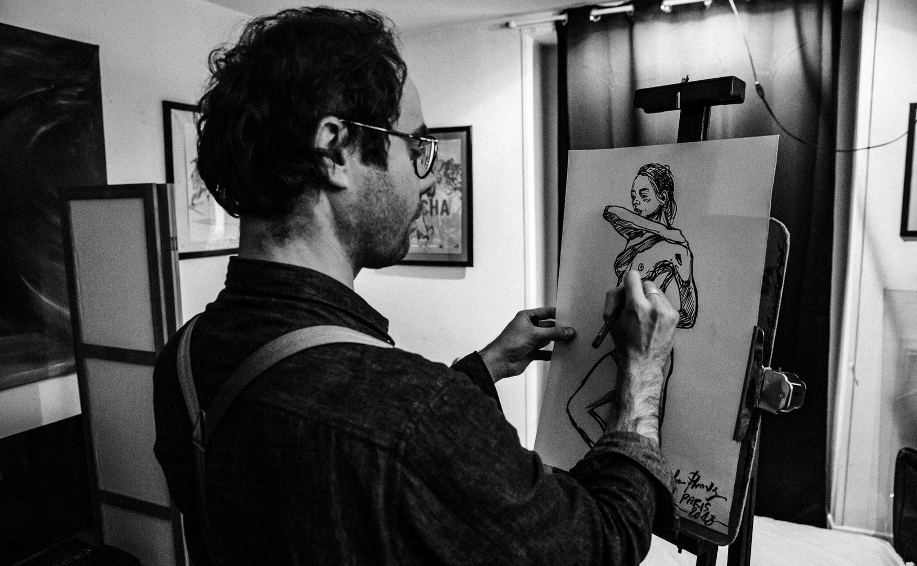 Яна Нагорняк в мастерской парижского художника / фото 33