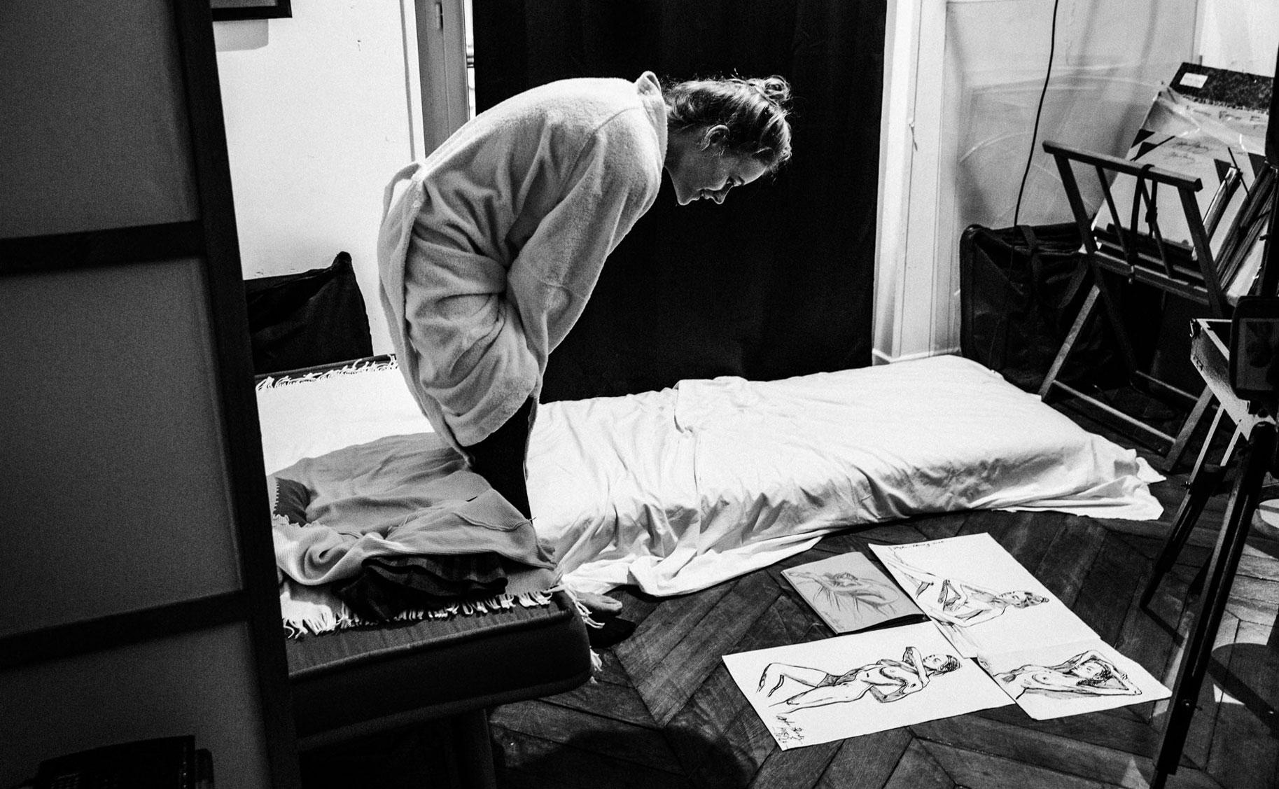 Яна Нагорняк в мастерской парижского художника / фото 34