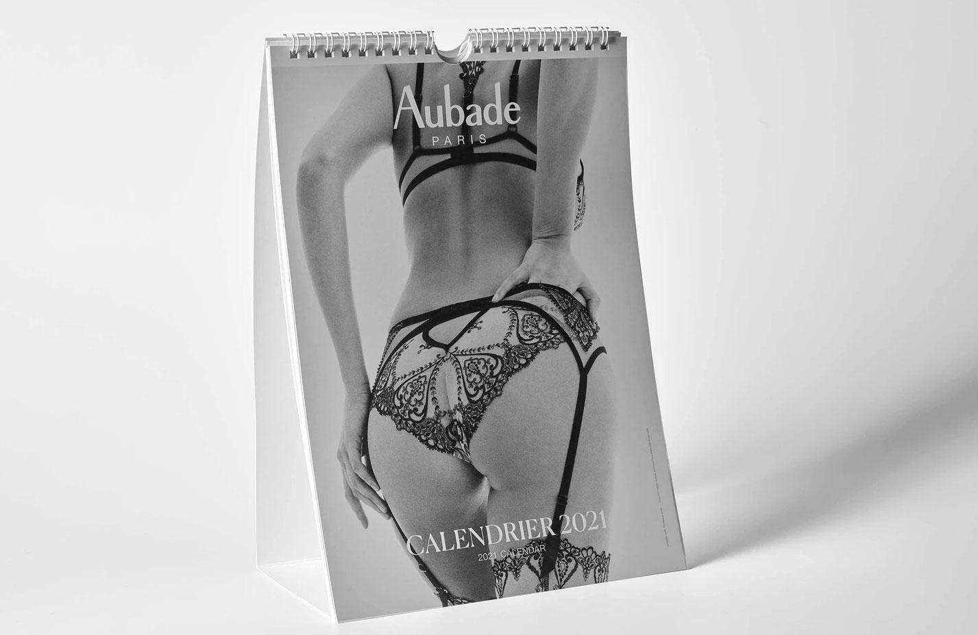 календарь французского производителя нижнего белья Aubade на 2021 год / обложка