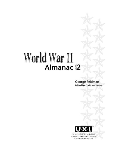 World War Ii Vol 2 Almanac