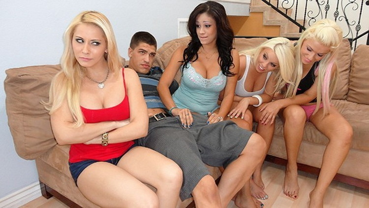 [CrueltyParty] - Britney Amber, Madison Ivy, Jamie Valentine - Roommates Convince Step Sister Madison Ivy to Deepthroat, Fuck her Brother (2021 / FullHD 1080p)