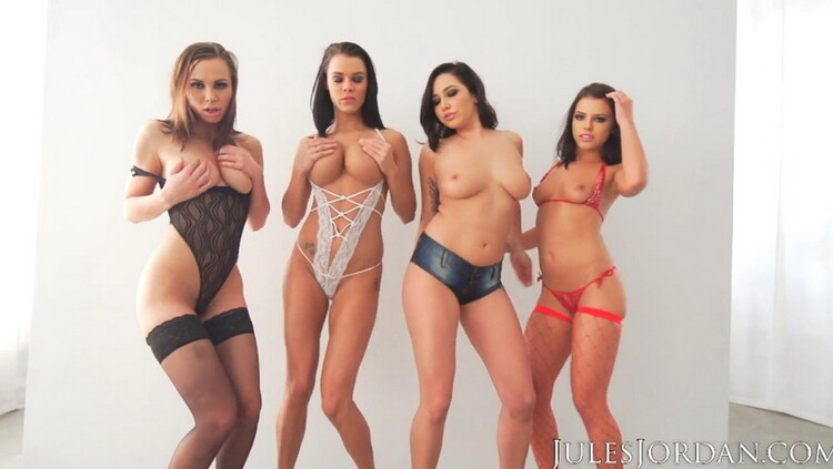 [JulesJordan] - Adriana Chechik, Aidra Fox, Karlee Grey - Orgy Masters Sex Party (2021 / FullHD 1080p)