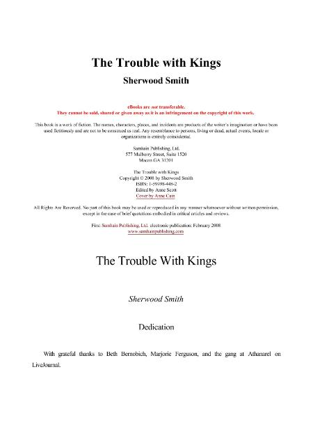 Sherwood Smith The Trouble with Kings