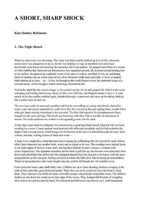 Kim Stanley Robinson A Short Sharp Shock