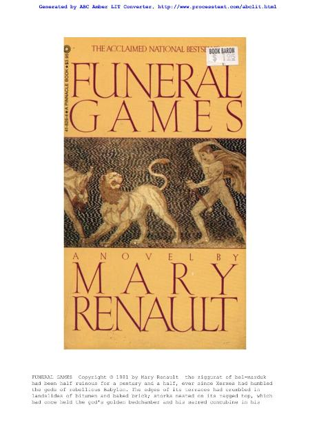 Mary Renault Greece 8 Funeral Games