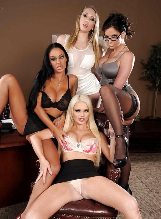 Офис 4-Игра Iii / Phoenix Marie, Kagney Linn Karter, Angelina Valentine, Alexis Ford (Office 4-Play Iii) (2021) Siterip