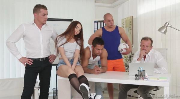 Tiny Russian Brunette Stacy Snake Gangbanged, Double Penetrated