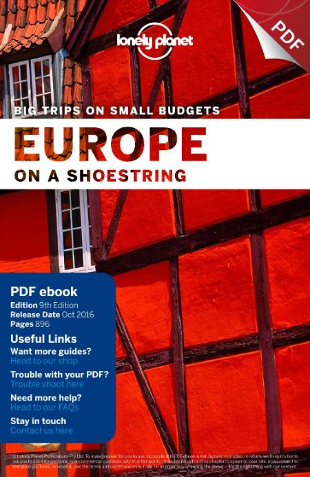 Lonely Planet Europe On A Shoestring Travel Guide