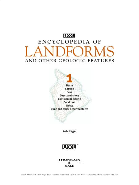 Uxl Encyclopedia Of Landforms And Other Geologic Features Vol 1