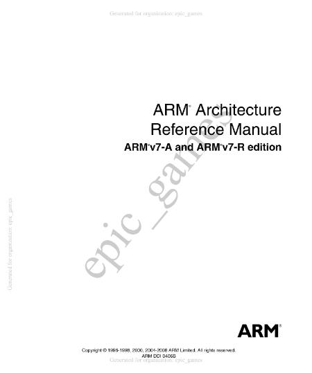 Arm Limited Arm Architecture Reference Manual 2008