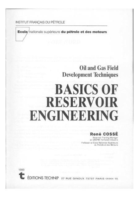 Basics Of Reservoir Engineering