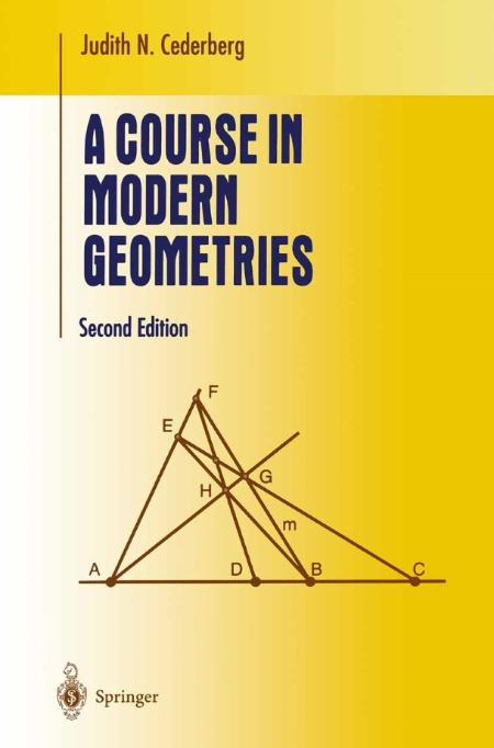 Cederberg Judith N 2001 A Course In Modern Geometries