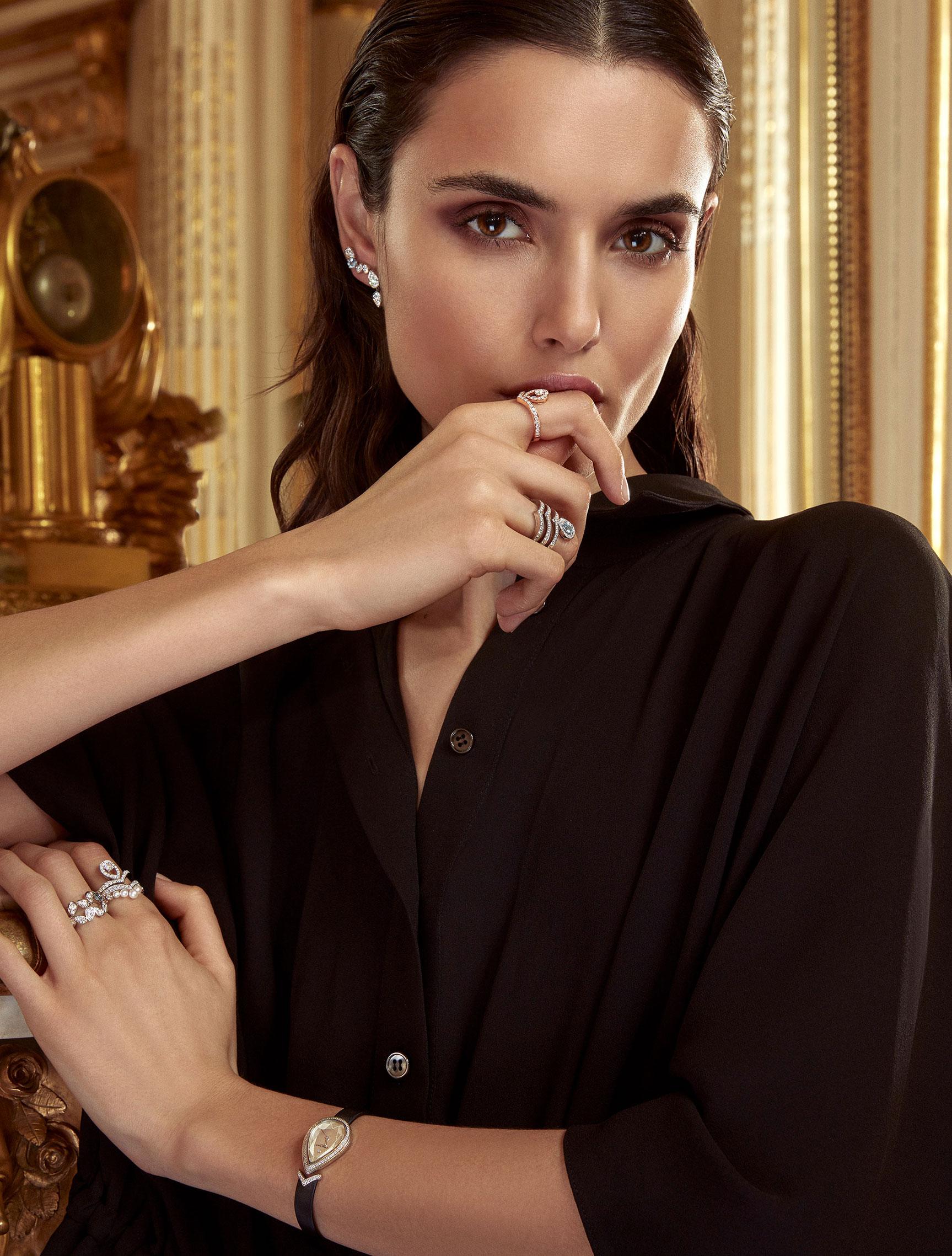 классические парижские ювелирные изделия Chaumet на красивой девушке / фото 06