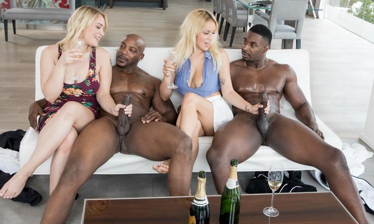 [Blacked] - Kylie Page, Hadley Viscara - Sorority Group Sex (2021 / HD 720p)
